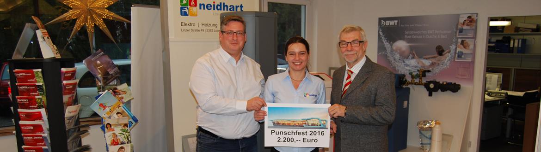 Spende für den Sozialfond Loosdorf-Josef und Agnes Prinz mit Bürgermeister Josef Jahrmann