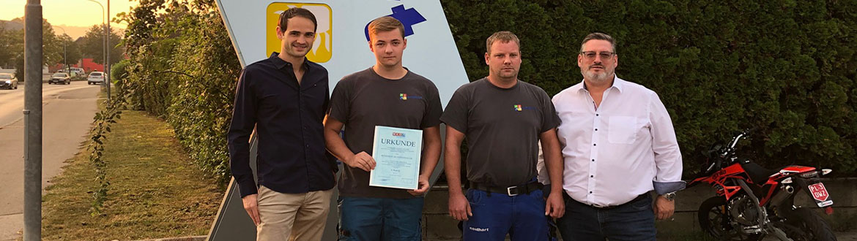 Junger Mitarbeiter von Neidhart gewann Landeslehrlingswettbewerb-Gold für Benedikt Muttenthaler!
