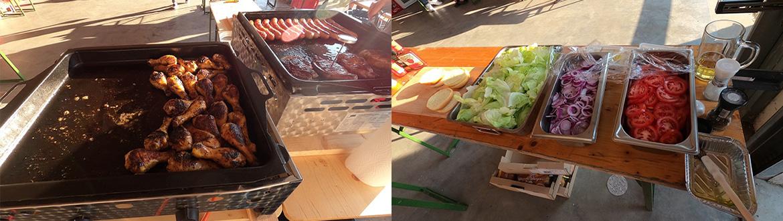 Grillfest bei Neidhart-Es bruzzelt und duftet ...
